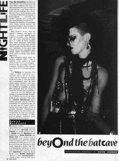The Batcave club (The Face magazine) 80s Goth, Punk Goth, Punk Fashion, Gothic Fashion, Gothic Musik, The Face Magazine, Moda Punk, British Punk, Black Planet