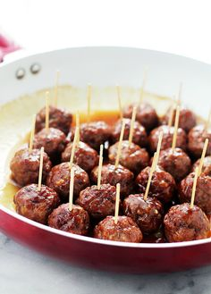 Make a plate of Brown Sugar Glazed Turkey Meatballs with this bite-sized appetizer recipe for your Super Bowl party.