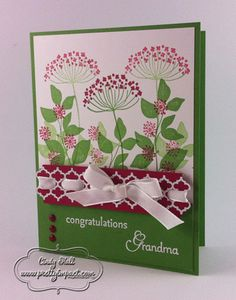 Use to make a CASed card with Saying Hello stamp set from my Cute Stamps. This card is Summer Silhouette - Stampin Up.