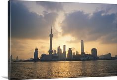 Pudong skyline, seen from across the Huang Pu River