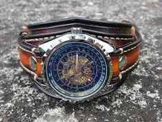 2e0f2520b Gotické hodinky čierne II, široký náramok na hodinky | Veci na oblečenie v  roku 2019 | Pinterest | Watches, Mens watches leather a Watches for men