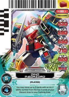 Dino Megazord Power Rangers Trading Card