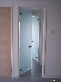 Glass Bathroom Doors Uk bathroom double glass door concept..you can't see through it but