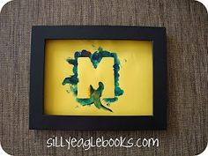 Mother's Day craft idea--Perfect for toddlers! Just mask off the letters and let them go to town! (I think I will try it with M-O-M)