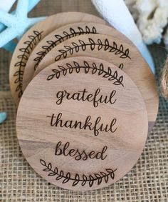 Look what I found on #zulily! 'Grateful, Thankful, Blessed' Autumn Coasters - Set of Four #zulilyfinds