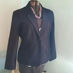 Black Blazer Cute Black Blazer. Lined. Two pockets at front. Button detail on sleeve. Pre loved, but in like new condition. High quality jacket. Perfect for slacks, jeans or a cute pencil skirt. Jackets & Coats Blazers