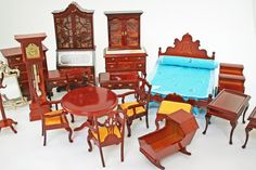 Vintage Doll House Furniture, 21 Pieces, Doll Furniture, 1950s. $65.00, via Etsy.