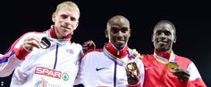 Andy Vernon, Mo Farah and Ali Kaya