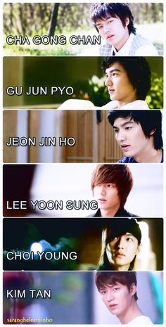sarangheleeminho:  Who's your soul mate?   :)  Lee Min Ho's characters !