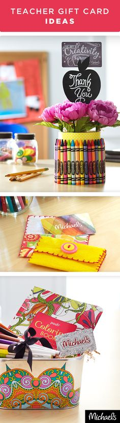 Looking for the perfect gift for your teacher? Let Michaels help with these 5 great DIY ideas for gift card holders. These are just a few ideas, get creative and have fun! Your teacher will be so proud. Get everything you need to make these projects at your local Michaels store.