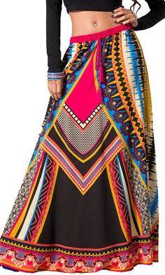 FLYING TOMATO Pink Black Full Length Tribal Geometric Print Boho Maxi Skirt Flying Tomato,http://www.amazon.com/dp/B00E0QC81O/ref=cm_sw_r_pi_dp_DwCqsb1KJDJJRA1W