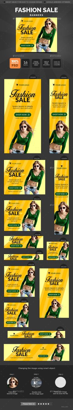 Fashion Sale Banners Template | Download: http://graphicriver.net/item/fashion-sale-banners/11056467?ref=ksioks