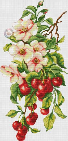 VK is the largest European social network with more than 100 million active users. Cross Stitch Fruit, Cross Stitch Kitchen, Cross Stitch Flowers, Counted Cross Stitch Patterns, Cross Stitch Designs, Cross Stitch Embroidery, Crochet Cross, Needlepoint, Photo Wall