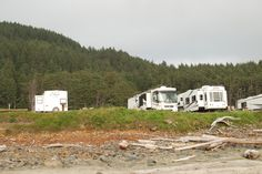 View of Sea Perch RV from the beach.