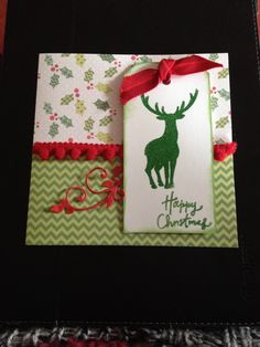Reindeer Christmas card by Sherie at Franklinanddelilah using heat embossed stag from Lavinia stamps