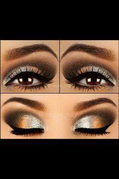Brown eyemake up for brides