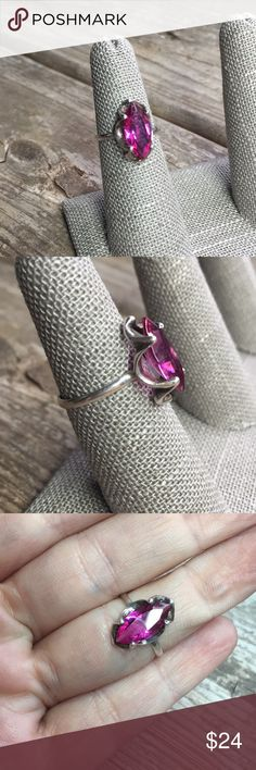 Vintage Mexican Sterling Purple Stone Ring Vintage Mexican Sterling Purple Stone Ring, size 7 Vintage Jewelry Rings