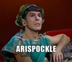 "Arispockle. Image from ST:TOS, season 3, ep ""Plato's Stepchildren"", 1968."