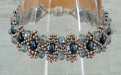 Linda's Crafty Inspirations: Bracelet of the Day: Duo Bobble - Montana Blue