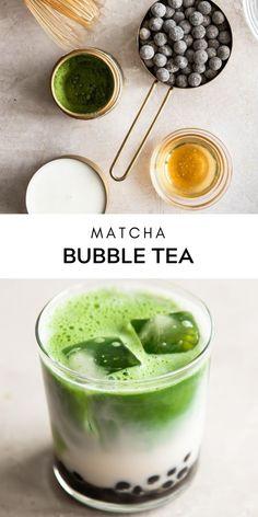 Tea Recipes, Smoothie Recipes, Smoothies, Boba Tea Recipe, Boba Drink, Matcha Drink, Matcha Green Tea Powder, Bubble Tea, Milk Tea