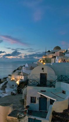 After Sunset In The Village Of Oia, Greece