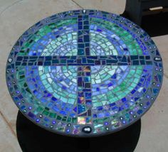 Mosaic table - love those colors