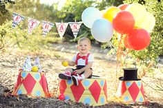 Circus Party Decorations - First Birthday Party Ideas Vintage Circus Party, Circus Carnival Party, Circus Theme Party, Carnival Birthday Parties, First Birthday Parties, Birthday Party Themes, Birthday Ideas, Dumbo Birthday Party, Circus Birthday