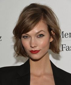 The Karlie Kloss bob is super cute, but I wouldn't cut my hair this short.
