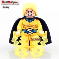 PG044 The Sentry Single Sale Marvel Comics DeathKnight Dark Avengers Super Heroes Blocks Minifigures Best Children Gift Toys