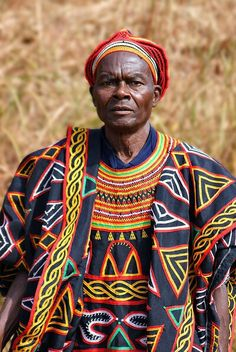 Man in traditional dress in Cameroon