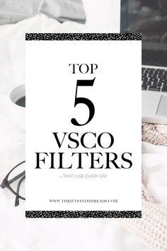 The top 5 VSCO filte