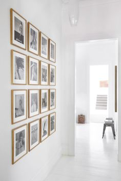 want a gallery wall like this in the master with engagement/wedding pictures