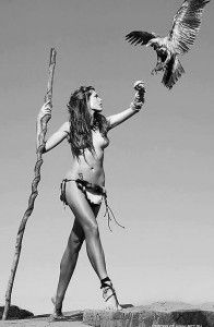 warrior-woman. i want a photoshoot like this lol.