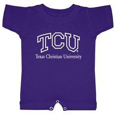 Texas Christian Horned Frogs NCAA Purple Infant T-Romper (24M)