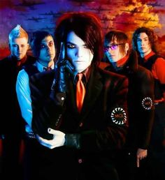 My Chemical Romance - Three Cheers For Sweet Revenge.One  of my favorite epicures of them. I mean. Just LOOK. AT. GERARD. cmon. you have to admit he looks BA here.