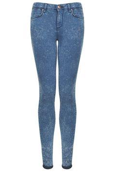 MOTO Blue Acid Leigh Jeans
