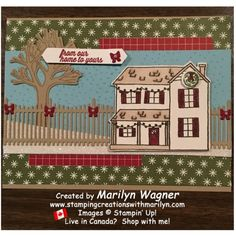 Farmhouse Christmas - Stamping Creations With Marilyn Homemade Buns, Alcohol Markers, Grandma's House, Christmas Projects, Cousins, Stampin Up Cards, Digital Photography, Light In The Dark, Stamping