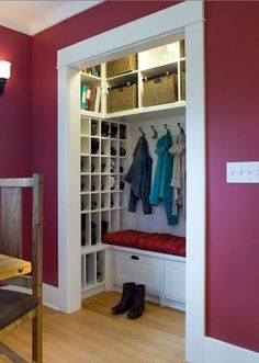 Shallow Closet On Pinterest Mud Rooms Closet And Front