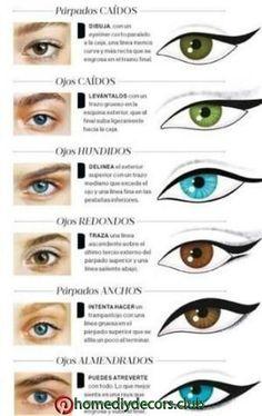 Eyeliner according to your type . by janice- Delineado de ojos segun su tipo. by janice Eyeliner according to your type . by janice – # eyes - Makeup Hacks, Makeup Inspo, Makeup Art, Makeup Inspiration, Makeup Tips, Beauty Makeup, Hair Makeup, Doll Eye Makeup, Eye Makeup Steps