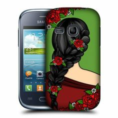 Amazon.com: Head Case Rose Blooming Braids Back Case Cover For Samsung Galaxy Young S6310: Cell Phones & Accessories