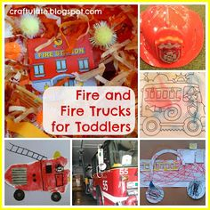 911 crafts for toddlers I always feel slightly bad when F's eyes light up with glee when he hears or sees a fire truck. I'm sure it's perfectly normal (h Fall Preschool Activities, Preschool At Home, Toddler Activities, Toddler Crafts, Crafts For Kids, Caterpillar Art, Transportation Theme, Preschool Transportation, Community Helpers Preschool