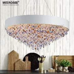 [ $28 OFF ] Modern Colorful Chandelier Round Light Fitting E14 E12 Circle Lustres Chandelier Suspension Hanging Lamp 100% Guanrantee