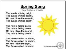 April Preschool, Preschool Weather, Preschool Music, Preschool Lessons, Preschool Classroom, Preschool Learning, Preschool Activities, Spring Songs For Preschool, Spring Activities