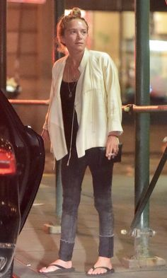 Mary-Kate Olsen Out For The Night In A Casual Chic Look