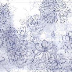 Handmade drawing Minerva print Leonard Paris SS15 collection