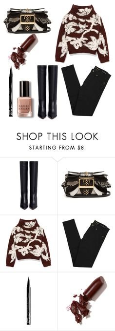 """Untitled #75"" by zhenia-samolichenko on Polyvore featuring Valentino, Burberry, Brunello Cucinelli, Yves Saint Laurent, NYX, LAQA & Co. and Bobbi Brown Cosmetics"