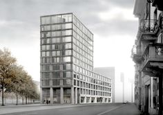 Caruso St John Architects Zurich    ..this individual expressiveness is reconciled with the continuity that is required, in the massing of the lower floors and in the tectonic of the pre-cast concrete facades, to make a good piece of city.     from the website of Caruso St John