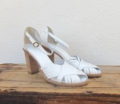 Vintage Robert Clergergie Paris White Leather by Trustfund21, $48.00