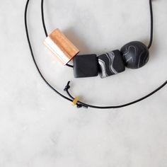 Copper Black Necklace
