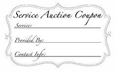 Service Auction vouchers